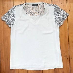 Brixon Ivy Short Sleeves with Lace Blouse V Neck